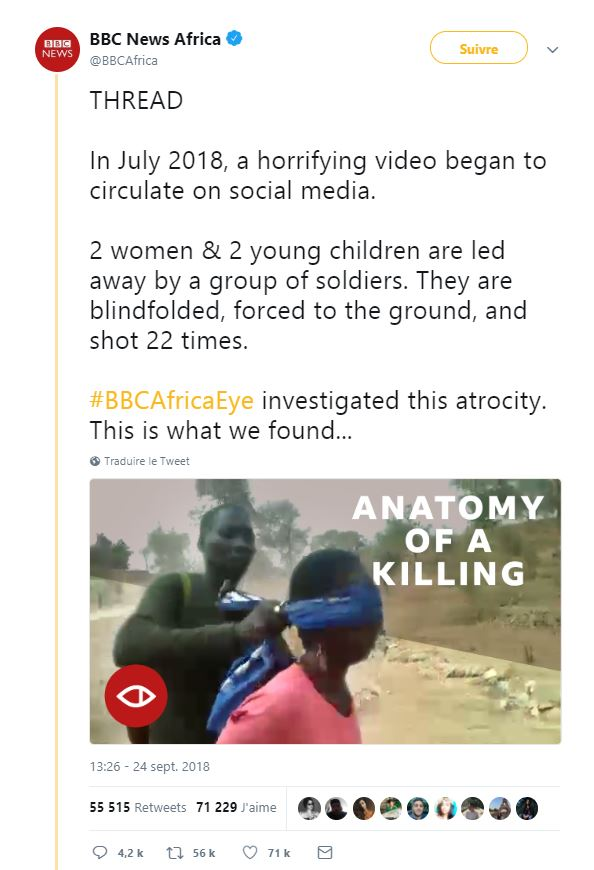 "Tweet de BBC News Africa : ""Anatomy of a killing"""